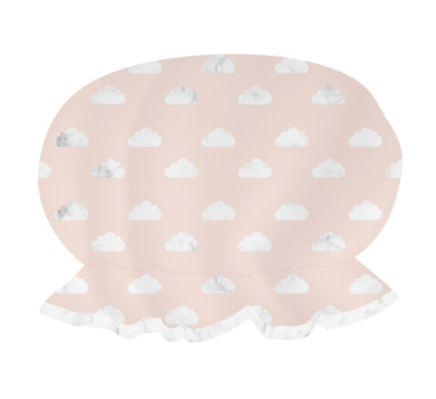 Danielle Creations Blush Clouds Marble & Rose Gold Shower Cap One Size Fits Most