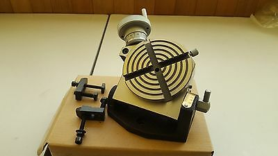 """4"""" Tilting Rotary Table With Clamps (TSK-4"""")"""