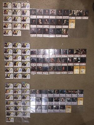The Lord of the Rings & Hobbit  Autograph Card Ultimate Set TOPPS Cryptozoic