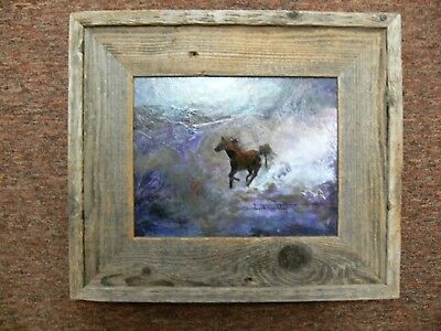 """RUNNING FREE"" Original Acrylic Horse Painting by Shirley Hartley, Framed Animal"