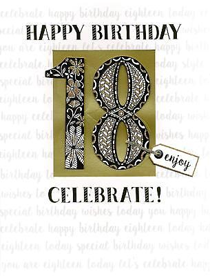 18th Birthday Gigantic Greeting Card Embellished Flittered A4