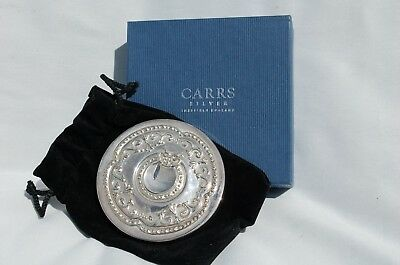 Lovely Robert  Carrs Silver Hand Bag Mirror Boxed With Velvet Pouch