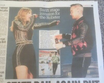 TAYLOR SWIFT  2018    ROBBIE WILLIAMS new clipping