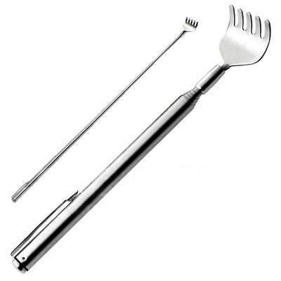 Extendable Back Scratcher Massage Pocket Portable Fork Stainless Pen Clip