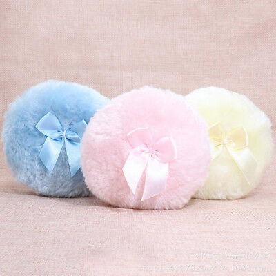 Baby Kids Soft Face Body Cosmetic Beauty Powder Puff Sponge Makeup Tool Bow Big