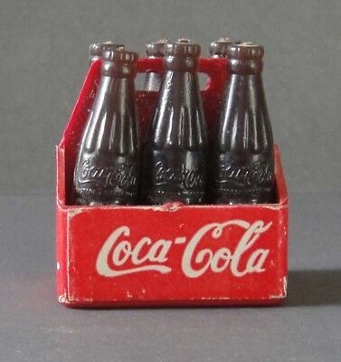 "Vintage Miniature Plastic ""Enjoy Coke It's the Real Thing"" Coca-Cola Six Pack"