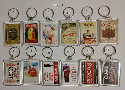 Coca Cola Key Chain - Coke Logos & Vintage Ads (Double Sided) (Lot 6) Choice