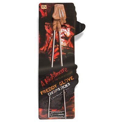 A Nightmare on Elm Street Freddy Kreuger Slasher Glove Novelty Chopsticks New