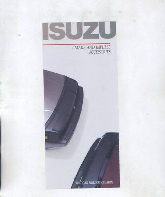 1986 1987 Isuzu US I-Mark Impulse Accessories Brochure wz4296