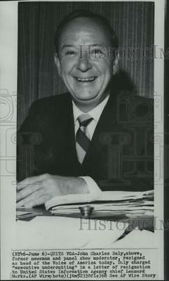 1968 Press Photo John Charles Daly, former head of the Voice of America