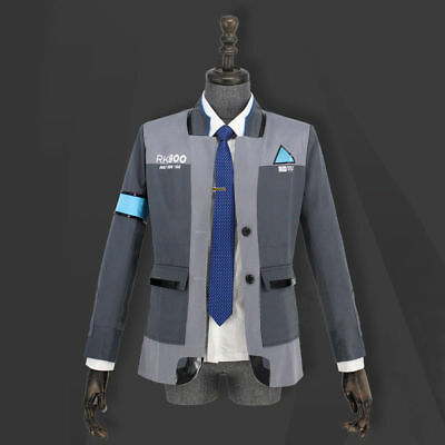 Game Detroit Become Human Connor Kara Cosplay Full Set Costume Suit Outfit Coat