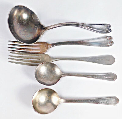 HOTEL / RESTAURANTS   ON  'SOILED  FLATWARE'   (LOT # B9   -- 5   pcs. )
