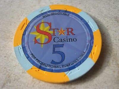 Star Casino For Promotional Purposes Only Non Negotiable Vintage 5 Casino Chip