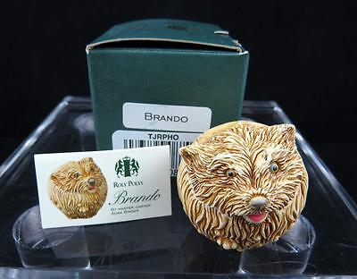 "Harmony Kingdom England Brando Dog 1 5/8"" Figurine With Original Box 2000"