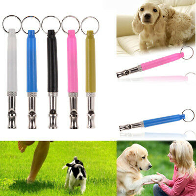Dog Puppy Pet Whistle Ultrasonic Pitch Sound Adjustable Key Chain Training Sanw