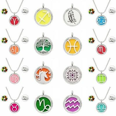 Hot Stainless Steel Aromatherapy Essential Oil Diffuser Perfume Locket Necklace