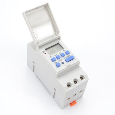 Digital LCD DIN Programmable Weekly Rail Timer Time Relay Switch