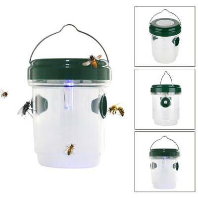 Solar Powered Mosquito Zapper Bug Fly Insect Killer Trap LED Outdoor Light Lamp