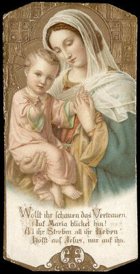 santino cromo-holy card MARIA DOLCE MADRE