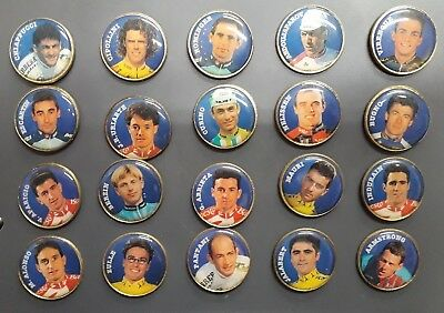 Lot 20 Pin's Anciens Coureurs Cyclisme Velo Tour De France  - Ref-P0207