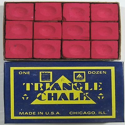 1 x BOX OF RED Triangle Snooker or Pool Cue Chalk !!!