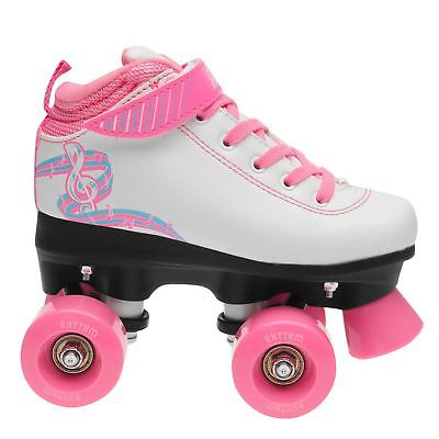 Rookie Kids Girls Rhythm Child Roller Skates Quad Lace Up Padded Ankle Collar