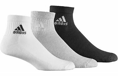 adidas Junior Boy's Ankle Sport Socks (3 Pack) White Grey Black Summer Holiday