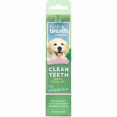 TropiClean Fresh Breath Puppy Clean Teeth Gel Oral Care for Dogs 2 oz