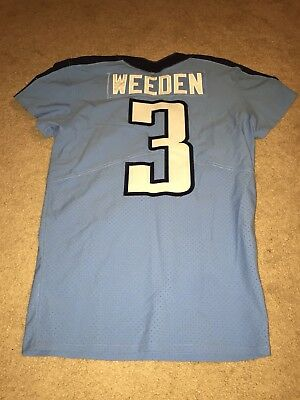 huge discount 7177d d93dd BRANDON WEEDEN 2017 Tennessee Titans Game Worn Used Jersey Nike Oklahoma  State