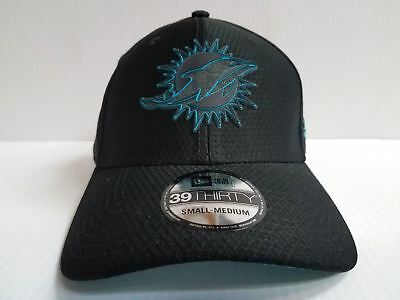 Miami Dolphins Cap New Era 39Thirty Stretch Fit Hat Black 2018 Training Camp 607127e23
