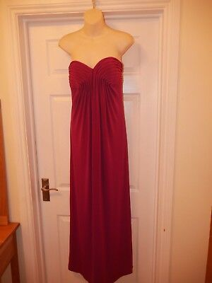 Ladies Cerise Pink/ Purple Night Way Collections Evening Gown Size 6 UK 10 Dress