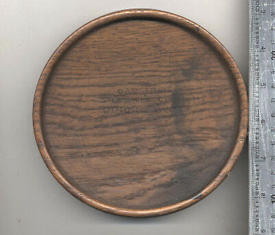 ANTIQUE 15C (1474) 6ins OAK WOODEN TRAY FROM St. GEORGES CHAPEL WINDSOR CASTLE