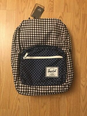 b8f4af645c HERSCHEL SUPPLY CO POP QUIZ 20L HOUNDSTOOTH BACKPACK Navy Polka Dot NEW  w TAGs