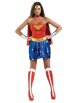 Adult 6-18 Licensed Wonder Woman Fancy Dress Costume Sexy Ladies Female BN