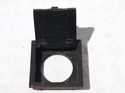 Thornton Pickard ?? Lens Housing Box Board With Opening Flap For Reflex Cameras