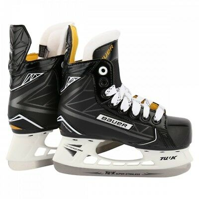 New Bauer Supreme 1048620 Junior 4.5 D S160 Black/Yellow Ice Hockey Skates