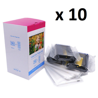 10x Compatible Canon KP108in 4x6 Ink Paper Set SELPHY CP Series Photo Printers