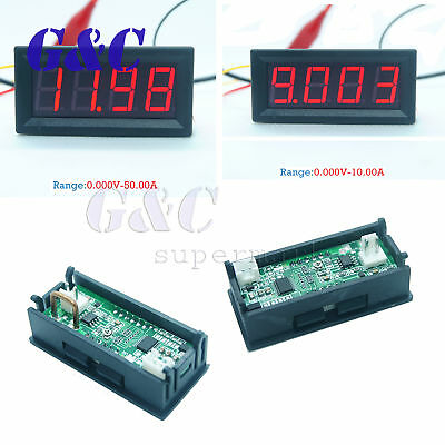 DC 0-10A/50A/100A 0.56in 4bit LED Digital Ammeter Panel Display Red