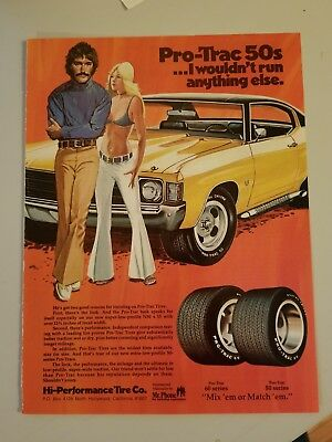 1972 Ss Chevelle, Couple/ Pro Trac Tires Ad