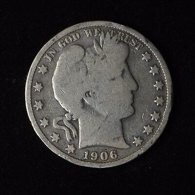 1906-S 50C Barber Half Dollar Circulated Us Type Coin