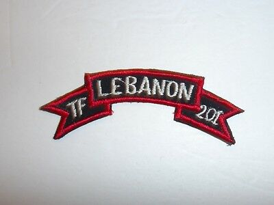 e0645 1980's US Army TF Lebanon 201 Task Force SF Special Forces Tab C14A15