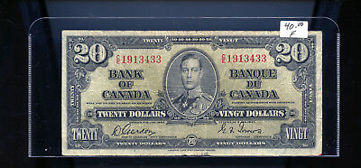 1937 Bank of Canada $20 Gordon Towers BL5003