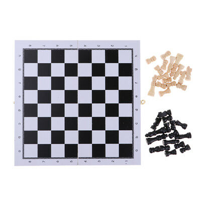 Portable International Chess Set Wooden Chessboard & 32 Wooden Chess Pieces