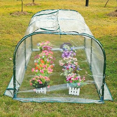 Outsunny 7 L x 3 W x 2.5 H Outdoor Portable Flower Plant Garden Greenhouse Kit