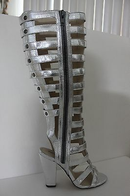 b2b62b86482d Michael Antonio Womens Silver Kimiko-Met Gladiator Sandals Shoe Boot Size 7    8