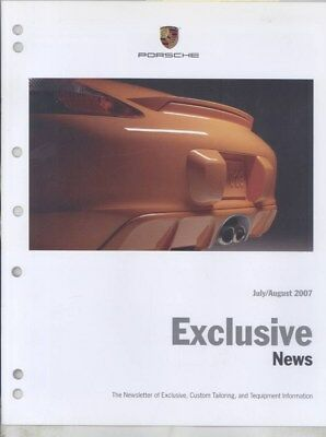 2007 Porsche Boxster S Bold Orange Edition Upholstery Stitching Brochure wz4357