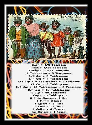 "BLACK AMERICANA  MAGNET - MEASUREMENT GUIDE - The Whole Black Family - 5"" x 7"""