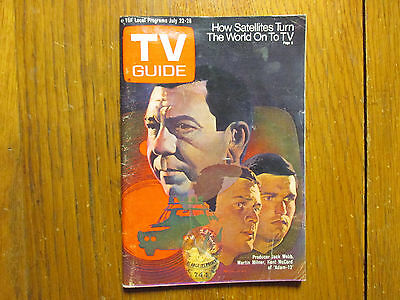 July 22, 1972 TV Guide(JACK WEBB/ADAM-12/KAREN HUSTON/KENT  McCORD/MARTIN MILNER