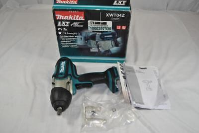 """New Makita LXT 18V 1/2"""" (12.7mm) XWT04Z Cordless Impact Wrench (Tool Only)"""