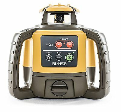 Topcon 1021200-07 RL-H5A Horizontal Self-Leveling Rotary Laser LS-80L Receiver